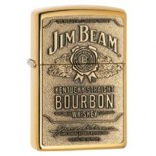 High Polish Brass Jim Bean Zippo Lighter